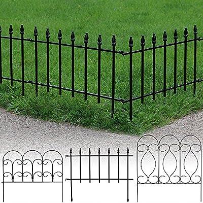 Sunnydaze Border Fence Panels, Set of 5 - Style Options Available