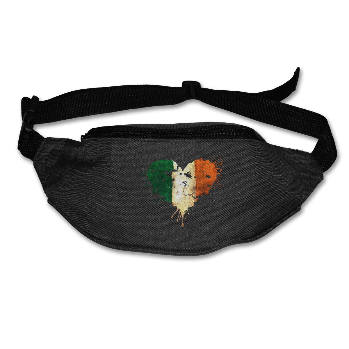 Ireland Irish Love Heart Sport Waist Bag Fanny Pack Adjustable For Hike