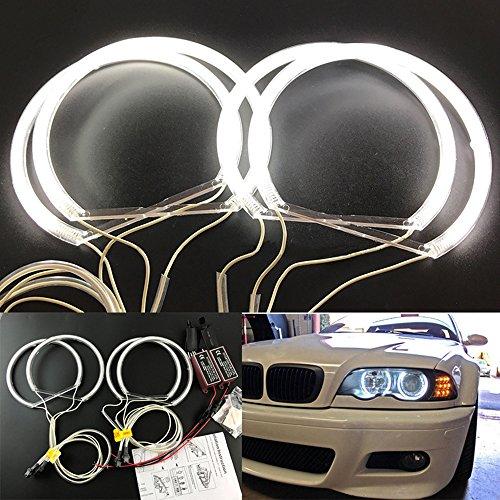 [해외]Guteauto CCFL 천사 눈 키트 따뜻한 흰색 헤일로 링 131 mm4 BMW E36 E38 E39 E46 (원래 프로젝터) / Guteauto CCFL Angel Eyes Kit Warm White Halo Ring 131 mm4 For BMW E36 E38 E39 E46 (With Original Projector)