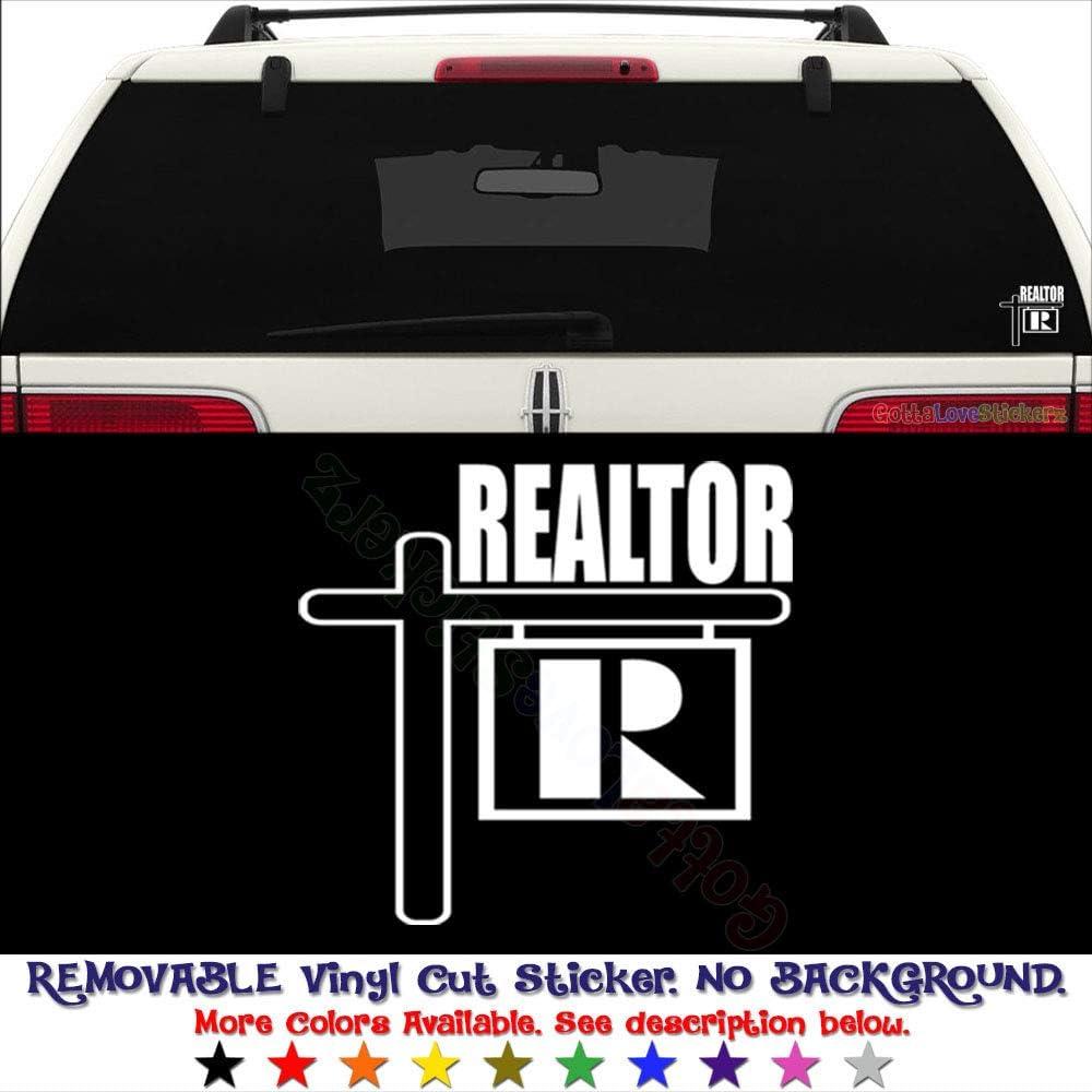 GottaLoveStickerz Realtor Real Estate Removable Vinyl Decal Sticker for Laptop Tablet Helmet Windows Wall Decor Car Truck Motorcycle - Size (05 Inch / 13 cm Wide) - Color (Matte White)
