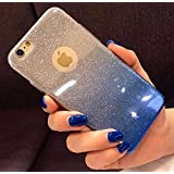 """INAUGURAL DISCOUNT - iPhone 7 Back Case Cover, Amozo® Gradient Glitter Skin Soft Silicone Slim Back Cover Case for Apple iPhone 7 (4.7""""), Blue Color"""