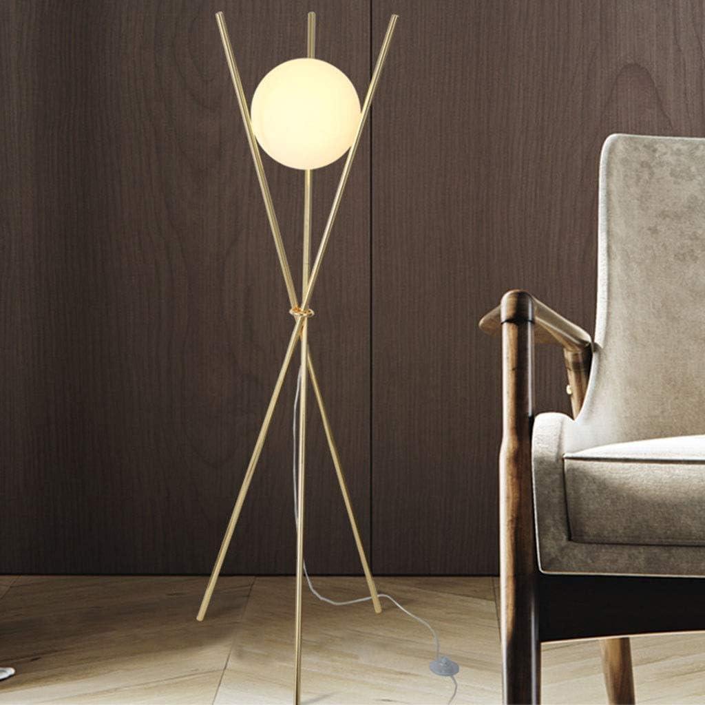 RUXMY Home Stehleuchte. Trigeminus Wohnzimmer Schlafzimmer Arbeitszimmer Modern Golden Vertical Reading Dekorative Beleuchtung Licht (Farbe: Tricolor Licht) Tricolor Light