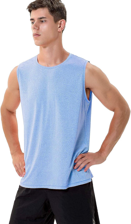 feuchtigkeitstransportierend Sport-Tanktop Herren-T-Shirt /ärmellos