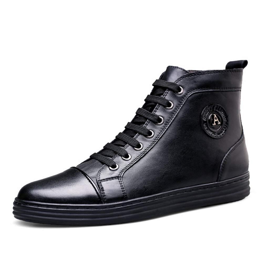 Männer Schuhe Schuhe Schuhe Herrenstiefel, Leder-Hochlandstiefel Winter Herren Plus Samt warme Stiefelies Britische Martin Freizeitstiefel Herrenmode Stiefel (Farbe   EIN, Größe   38) f314fc