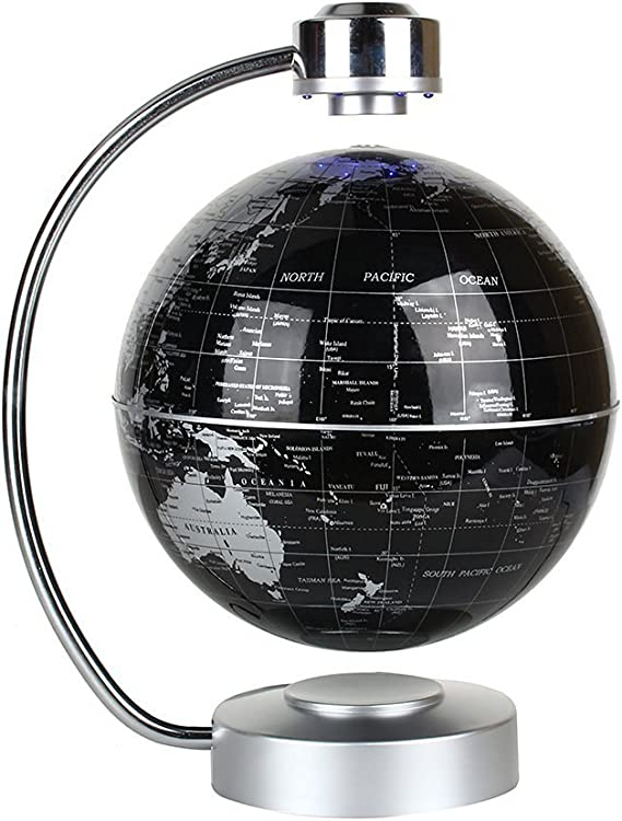 Weltkugel mit LED-Licht schwebender Weltkugel Weltkugel mit magnetischer Levitation drehbarer rotierender Globus Weltkugel 100~240V rotierender Weltkugel