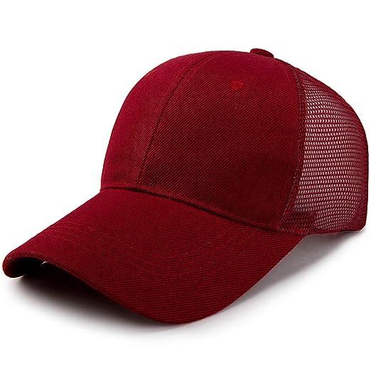 zhuzhuwen Sombrero de algodón, Cola de Caballo, Gorra de béisbol ...