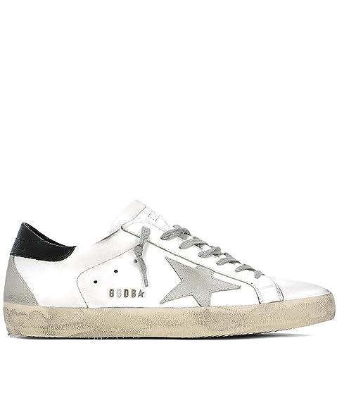 GOLDEN GOOSE GCOMS590W55 Hombre Blanco Cuero Zapatillas: Amazon.es: Zapatos y complementos