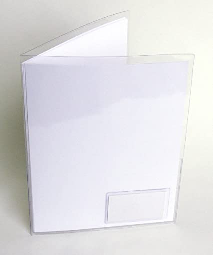 Amazon Storesmart Clear Plastic Folder With 2 Pockets With