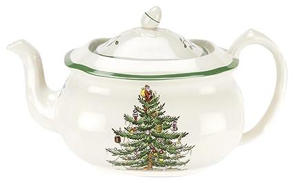 Spode Christmas Plates.Spode Christmas Tree Teapot L S