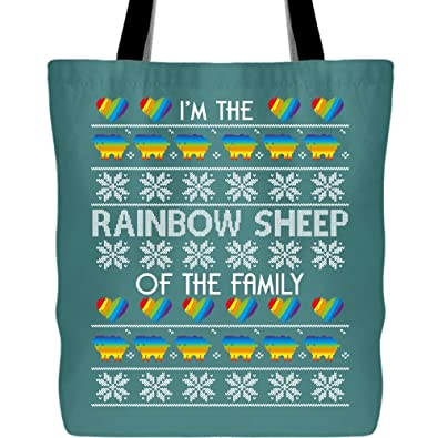 Amazon.com: Ser el arco iris bolsas de ovejas con asas ...