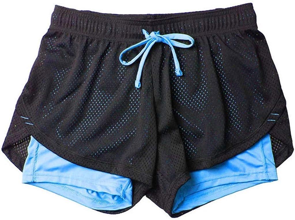 Whitegeese Womens Activewear Lounge Shorts Mid Waist Loose Drawstring Waist Ringer Pants