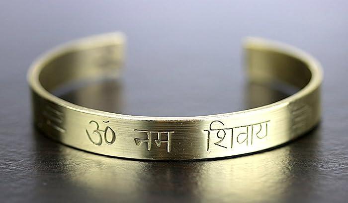 Om Namah Shivay Namo Shivaya brass healing bracelet | God Shiva | Shivoham  | Blessed & Energized | US Seller