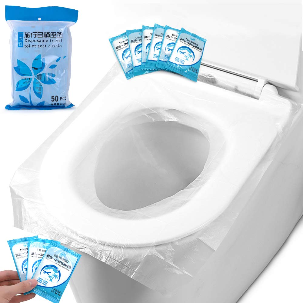 for Kids Baby Pregnant Travel Individually Wrapped Disposable Toilet Seat Covers 50PCS Hygienic Flushable Toilet Seat Covers for Public Toilet Seat Covers
