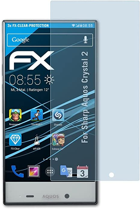 atFoliX Lámina Protectora de Pantalla Compatible con Sharp Aquos Crystal 2 Película Protectora, Ultra Transparente FX Lámina Protectora (3X): Amazon.es: Electrónica