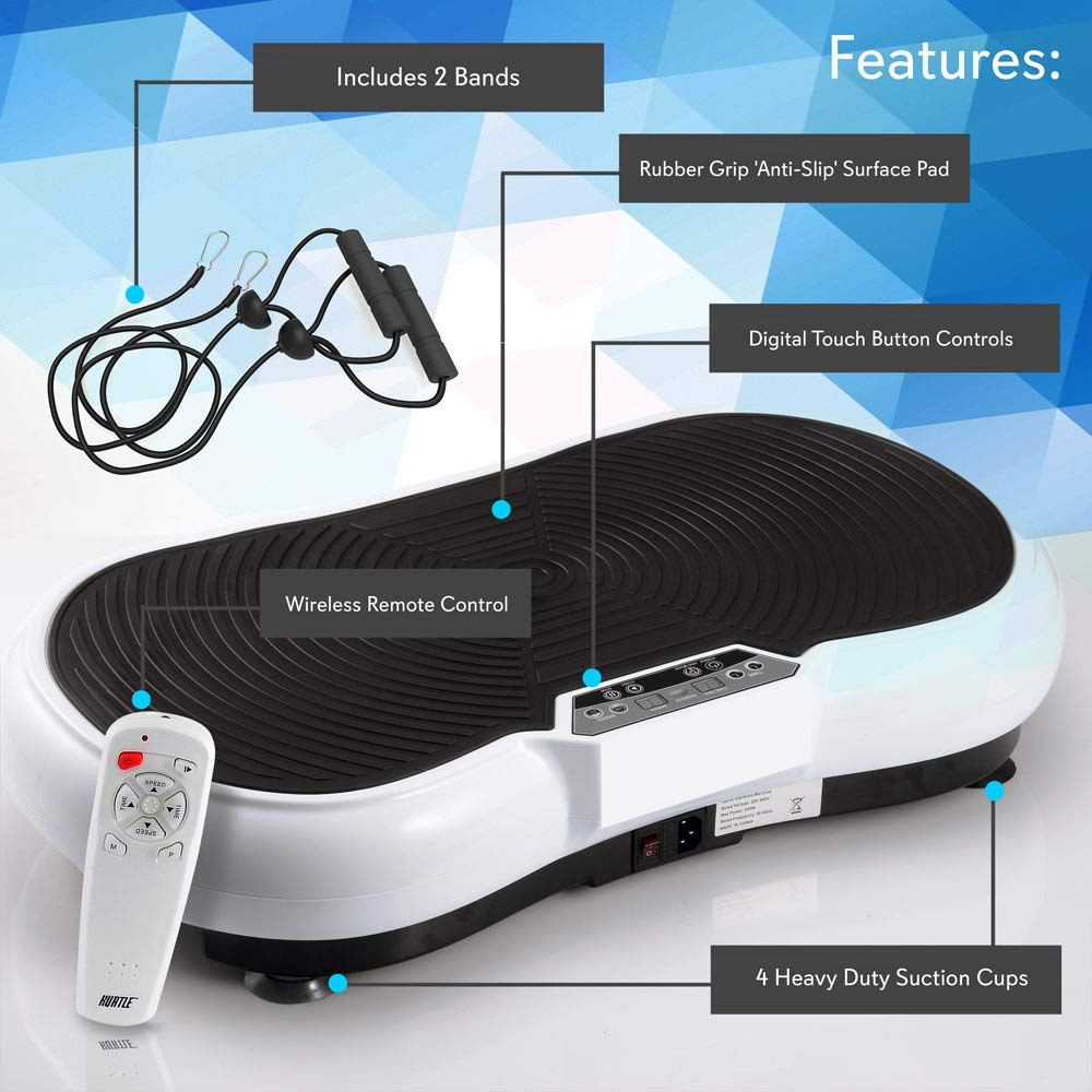 Hurtle Fitness Vibration Platform Workout Machine | Exercise Equipment For Home | Vibration Plate | Balance Your Weight Workout Equipment Includes, Remote Control & Balance Straps Included (HURVBTR30) by Hurtle (Image #8)