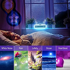 [UPGRADED 2018] White Noise Machine - Best Premium Rechargeable Sleep Machines for Baby, Infants, Kids, Adults | Digital USB Noise-Cancelling for Home, Office with Natural Wind, Ocean Sound Effects