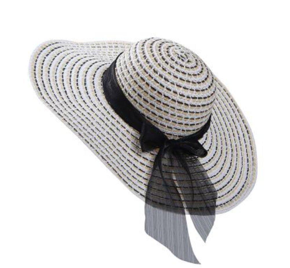 Cdet Playa sombrilla Sombrero de Playa Plegable Sombrero de Sol Femenino Sombrero de Sol de Vacaciones Naranja
