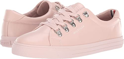 Tommy Hilfiger Women's Pink Leather Sneakers