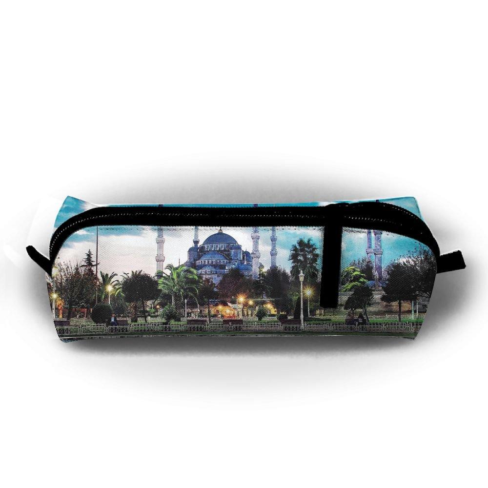 Istanbul Ahmet Mosqueトルコユニセックスひな形ポーチファスナーコスメティックバッグ円柱Purse   B07BHJ4SJH