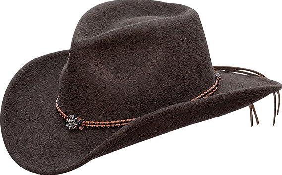 35032d8afbb91 Jack Daniels Men s Daniel s Twisted Leather Bend-A-Brim Wool Felt ...