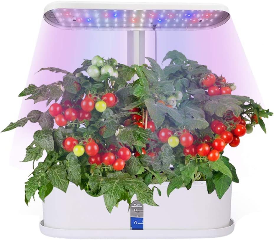 Bavnnro hydroponics Growing System,10-Pod Plant Growing Lights Indoor Gardening Herbs Garden Automatic Timing Starter Kits for Home Kitchen Gardening LED Lighting Height Adjustable