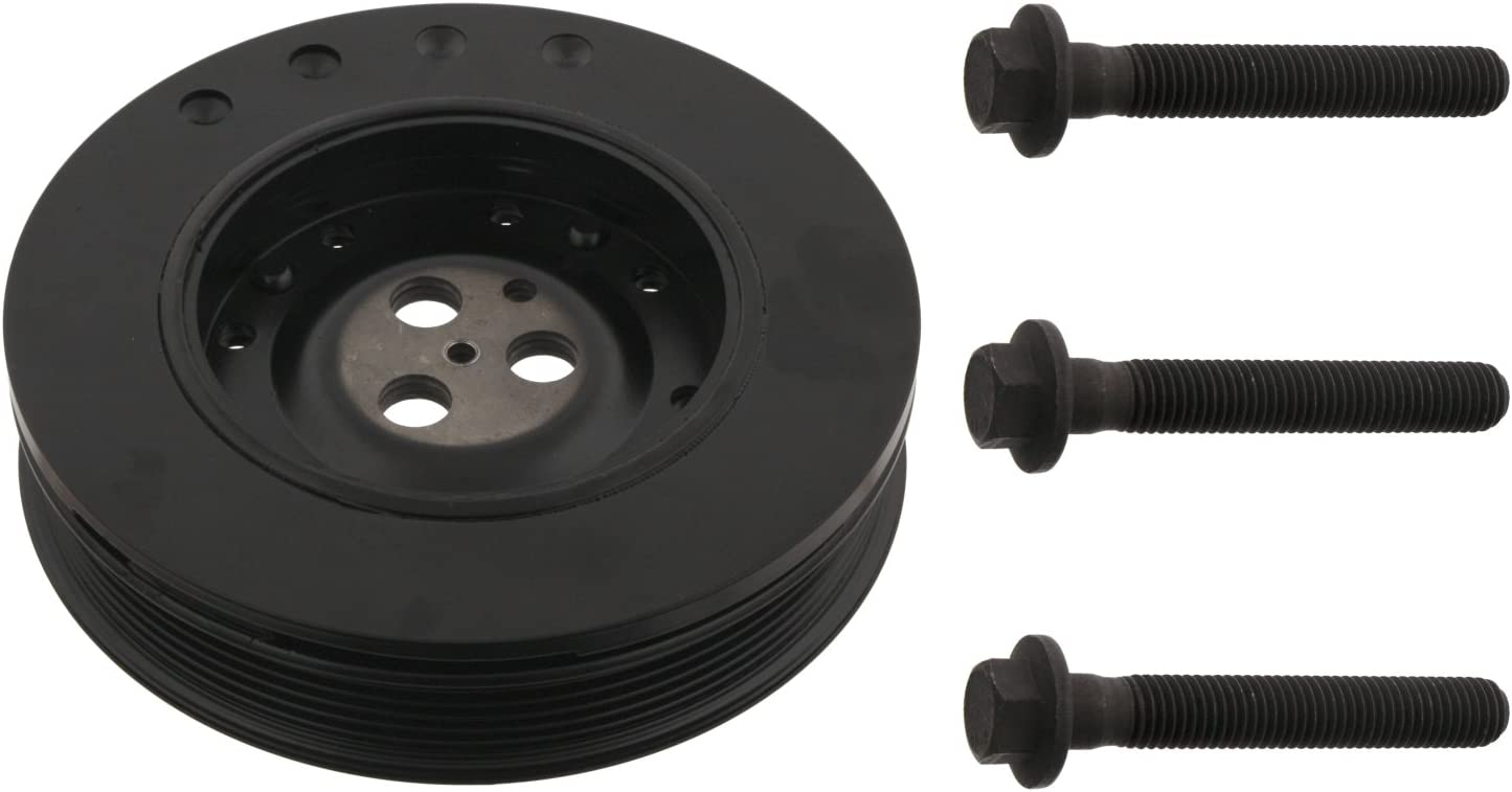 febi bilstein 33673 Pulley decoupled for crankshaft with screws pack of one