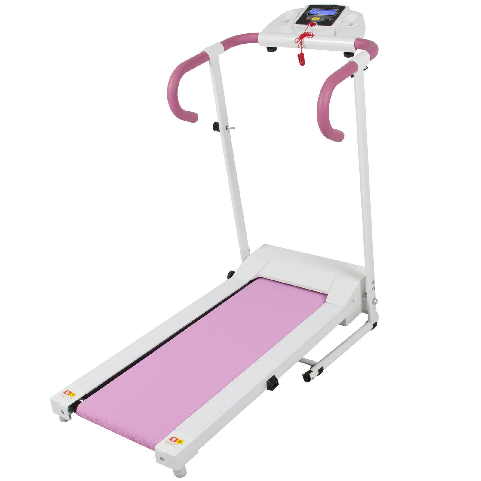 Eight24hours Pink 500W Portable Folding Electric Motorized Treadmill Running Fitness Machine