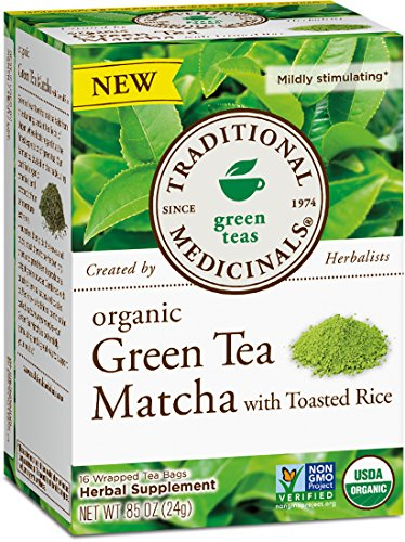 - Traditional Medicinals Organic Green Tea Matcha With Toasted Rice, 16 Tea Bags (Pack of 6)