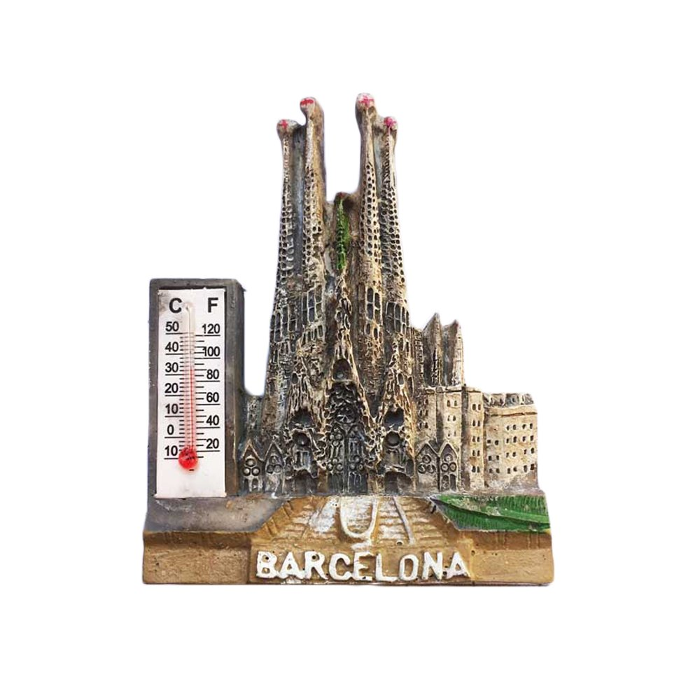 Pegatina de recuerdo 3D Barcelona España para nevera, diseño de ...