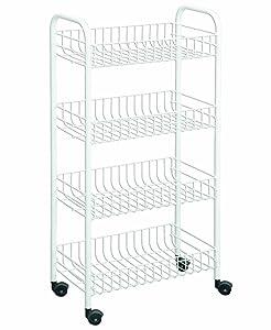 Metaltex USA Inc. 4-tier Rolling Cart, White