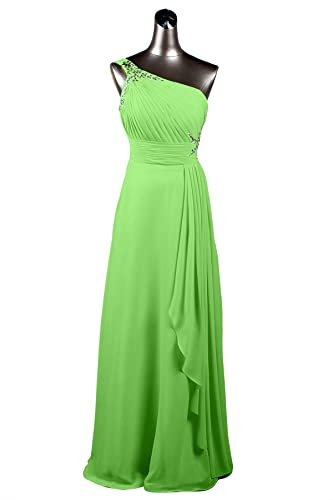 YLMTOP One Shoulder Bridesmaid Dresses with Crystal Long Prom Dress Party