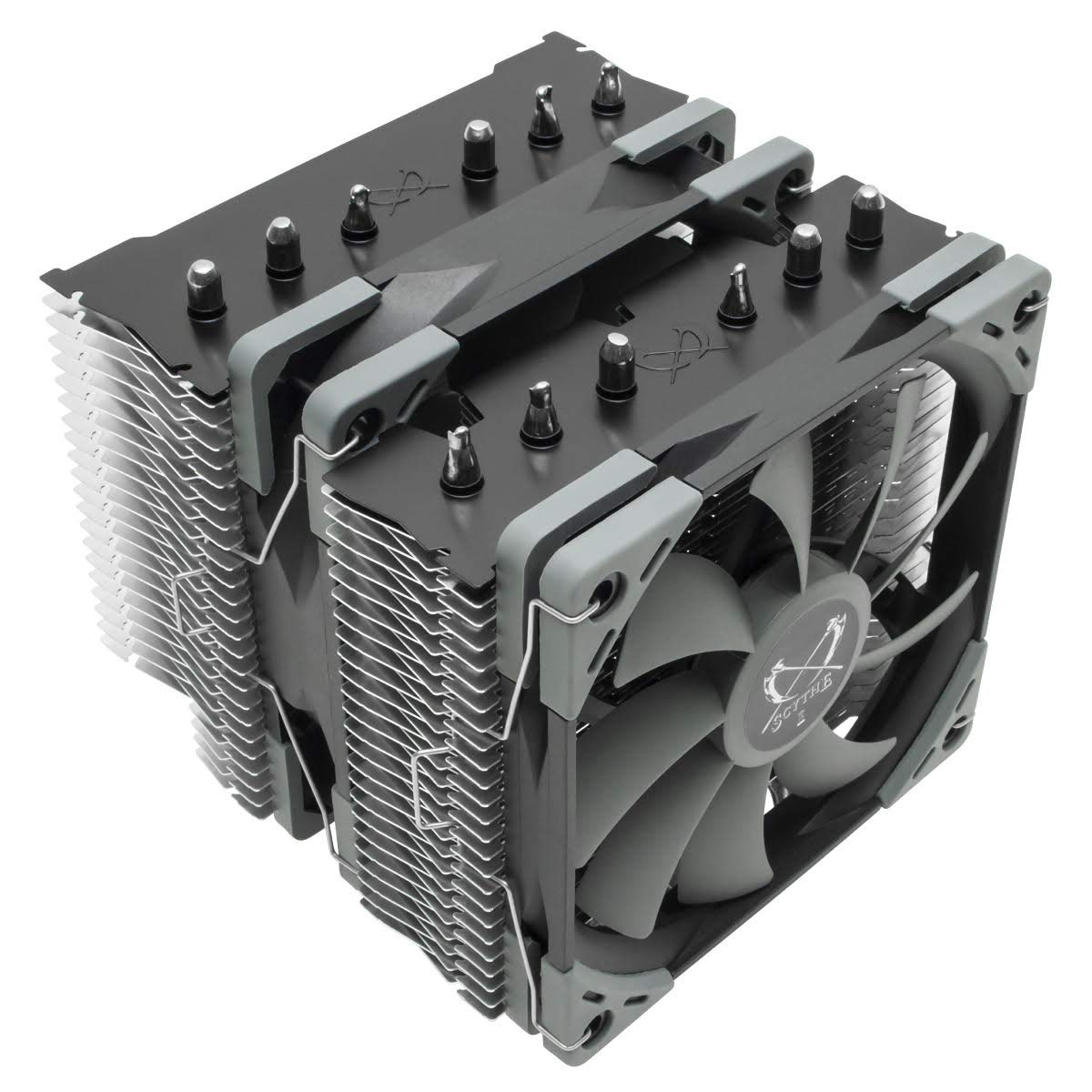 Scythe Fuma 2 120mm Air CPU Cooler, Twin Tower Heatsinks with 6 heatpipes, Dual PWM Fans, Intel LGA1151, AMD AM4/Ryzen by SCYTHE