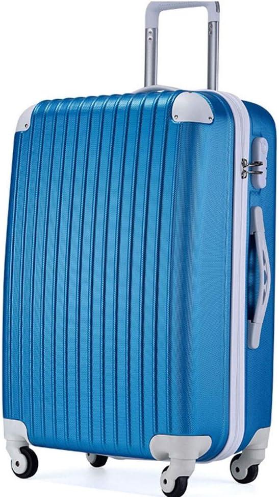 RUNXIAN Carrito for equipaje universal de la rueda ocio clásico de embarque de equipaje Maleta esquina simple de 20 pulgadas 24 pulgadas (Color : Blue-20in)