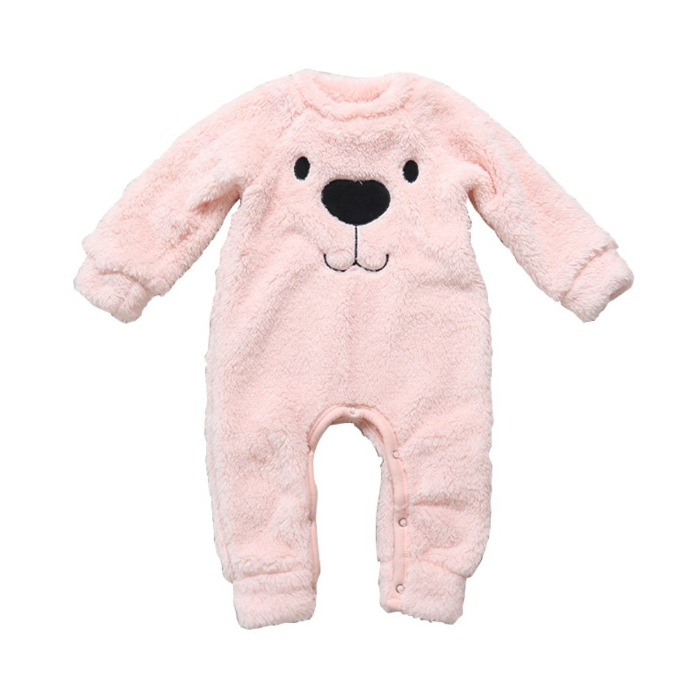 Urmagic Baby Romper, Newborn Baby Boys Girls Thick Warm Cute Cartoon Pattern Romper Jumpsuit Outfit Infant Autumn Winter Clothes Home Costume