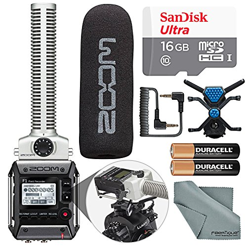 Zoom F1-SP Field Recorder with Shotgun Microphone F1-SP Package with 16GB Card and Basic Bundle