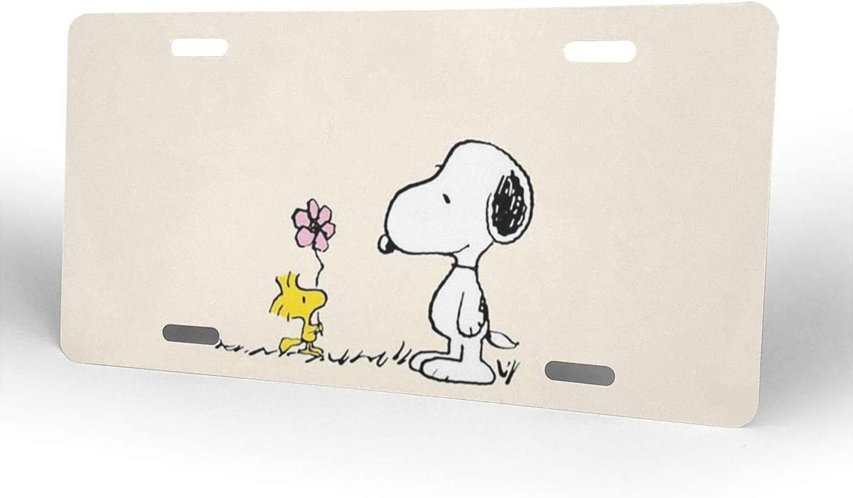 Meirdre Aluminum License Plates Snoopy License Plate Tag Car Accessories 12 X 6