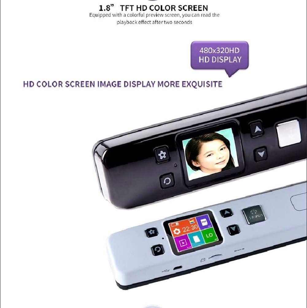 OCR Wireless F/ür Dokumente Fotos JPEG//PDF Formant,White Portable Handheld Scanner WiFi Mit Farbe LCD