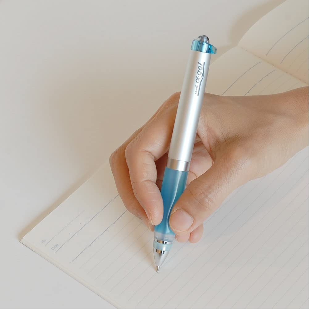 ENERGEL 2S XBLW355N 2-Color 0.5mm Ballpoint Multifunctional Pen - Gray with Free 5-Color Sticky Notes PenteI 5pcs