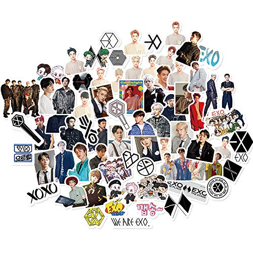 EXO Sticker Pack EXO 65Pcs Obsession Planet Sticker Pack Cartoon Waterproof vinly Stickers for Laptop Notebook Kpop Soho Baek Hyun Sticker