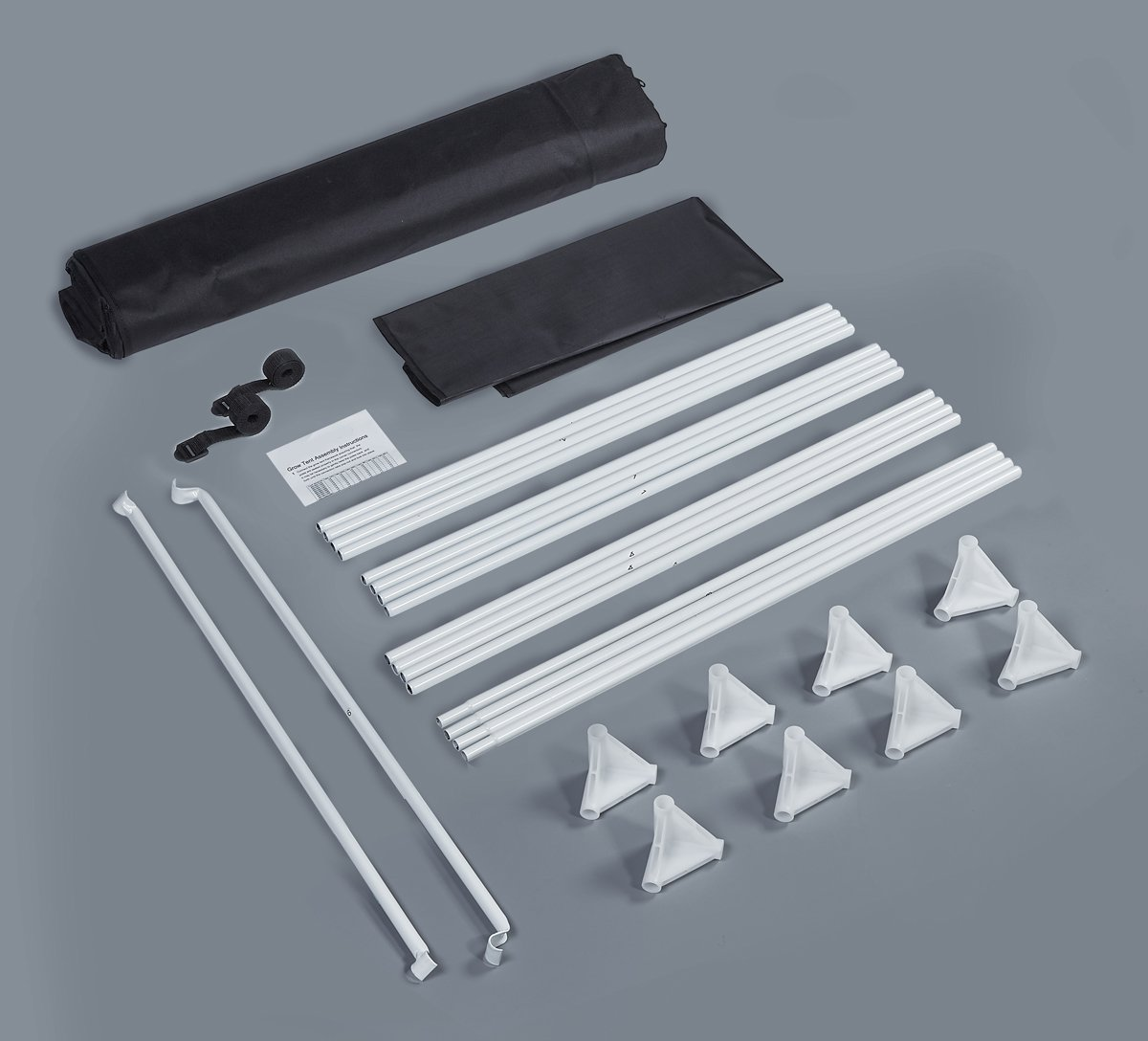 "TopoLite Full Range Multiple Sized 24""x24""x48"" 32""x32""x63"" 48""x24""x60"" 48""×48""×80"" 96""x48""x80"" 120""X120""X80"" Indoor Grow Tent Room 600D Mylar Hydroponic Growing Plant w/ Plastic Corner (32""X32""X63"")"