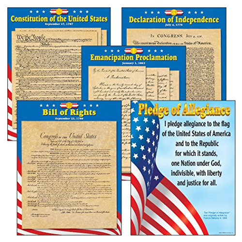 Trend US Documents Learning Chart Combo Pack - Set of 5