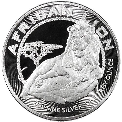 2017 NU $2 Niue Silver African Lion .999 1 oz BU - Brilliant Uncirculated - Silver Lion Coins