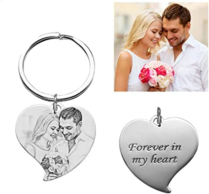 Personalise Heart Keyring This person belongs to..