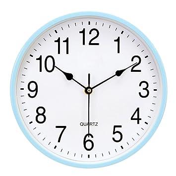 Uhr Modern amazon de japace modern silent wanduhr bunten uhr ohne ticken für