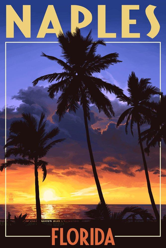 新到着 ナポリ 24、フロリダ州 – ヤシとサンセット 24 x 36 Giclee Giclee Print Print LANT-43763-24x36 B017E9S0GA 36 x 54 Giclee Print 36 x 54 Giclee Print, ピュアライズ:f4b67a25 --- senas.4x4.lt