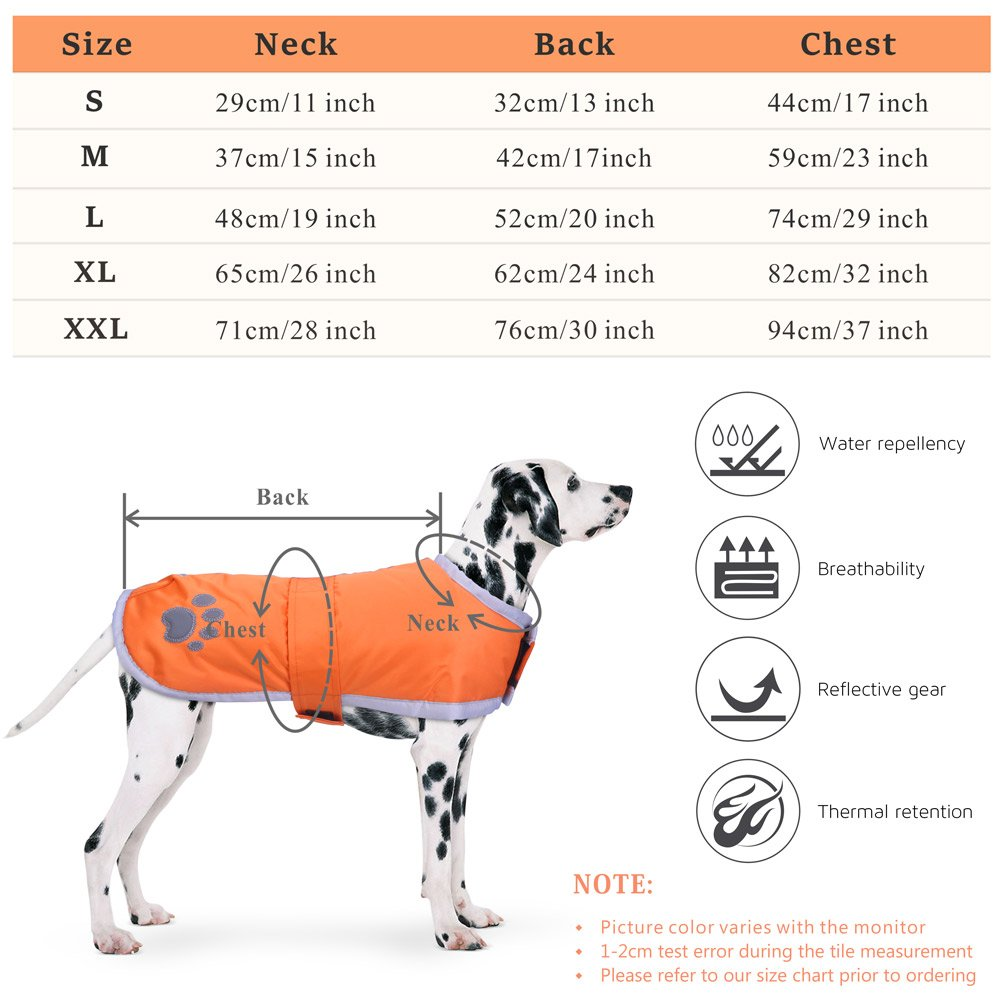 Fleece Jacket Waterproof Parka Warm Pet Reversible Clothes Suitable Snow Cold Weather Christmas Holiday PETBABA Dog Coat Winter L in Blue Reflective Puffer Vest Safe at Night Walk