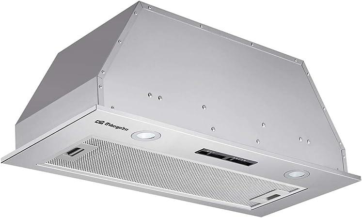 Orbegozo CA 08190 IN - Campana extractora cassette 90 cm, acero inoxidable, extracción 615,7 m3/h, 3 niveles de potencia, filtro de aluminio desmontable, iluminación LED: Amazon.es: Hogar