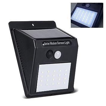 GEZICHTA Panel Solar Separable Lámpara de Pared LED Exterior Sensor de Movimiento Inalámbrico IP65 Impermeable Nocturna