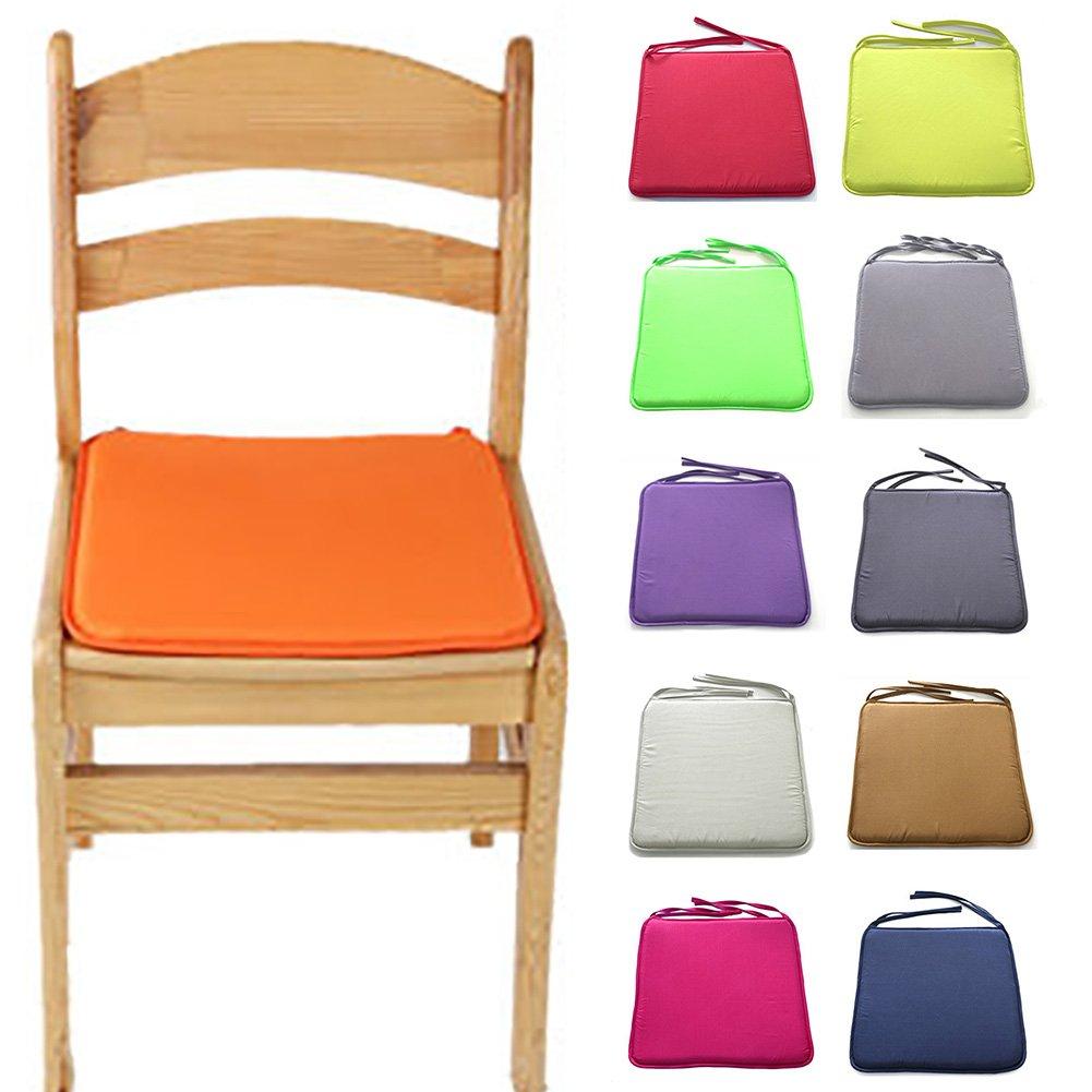 40cm by 40cm Red Voiture LNIMIKIY Coussin de Chaise carr/é Solide 40 cm x 40 cm avec Cordons pour Patio Bureau Maison Tatami d/écoration canap/é