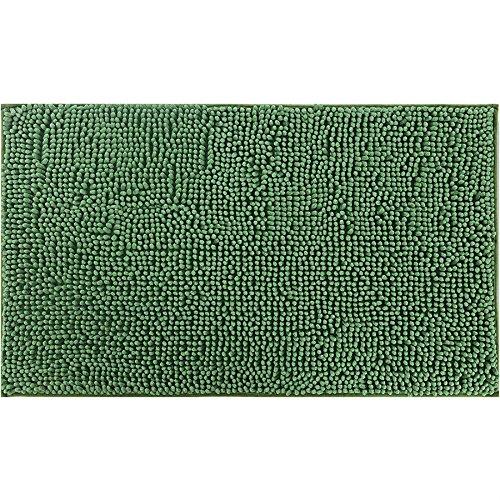 TAPETE DE BANHEIRO CHENILLE SHAGGY 0,45 X 0,75 / NIAZITEX VERDE